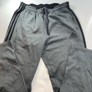 adidas   Gray Black Boys Large Sweat Pants